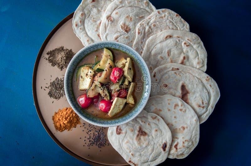 Plaat van het Subzi de Indische voedsel stock afbeelding