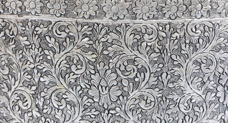 Plaat van het textuur de zilveren metaal royalty-vrije stock foto