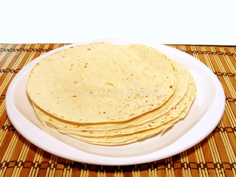Plaat van Tortilla's royalty-vrije stock foto's