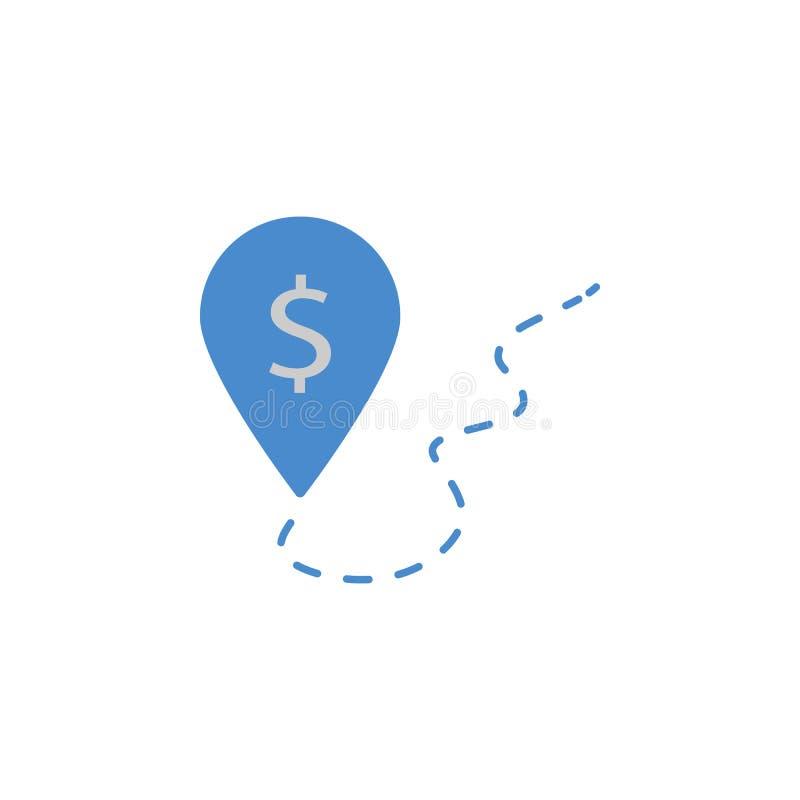 Plaats, bank, ATM, financiën, geld, het bank twee kleuren blauw en grijs pictogram vector illustratie