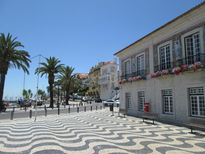 Plaats in Cascais, Portugal royalty-vrije stock afbeeldingen