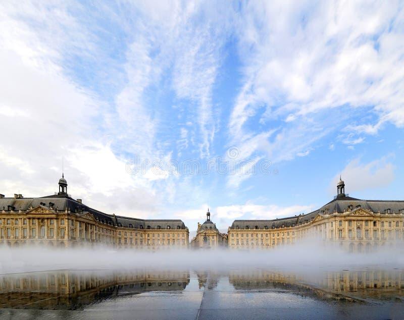 Plaats DE La bourse in Bordeaux, Frankrijk. royalty-vrije stock foto's