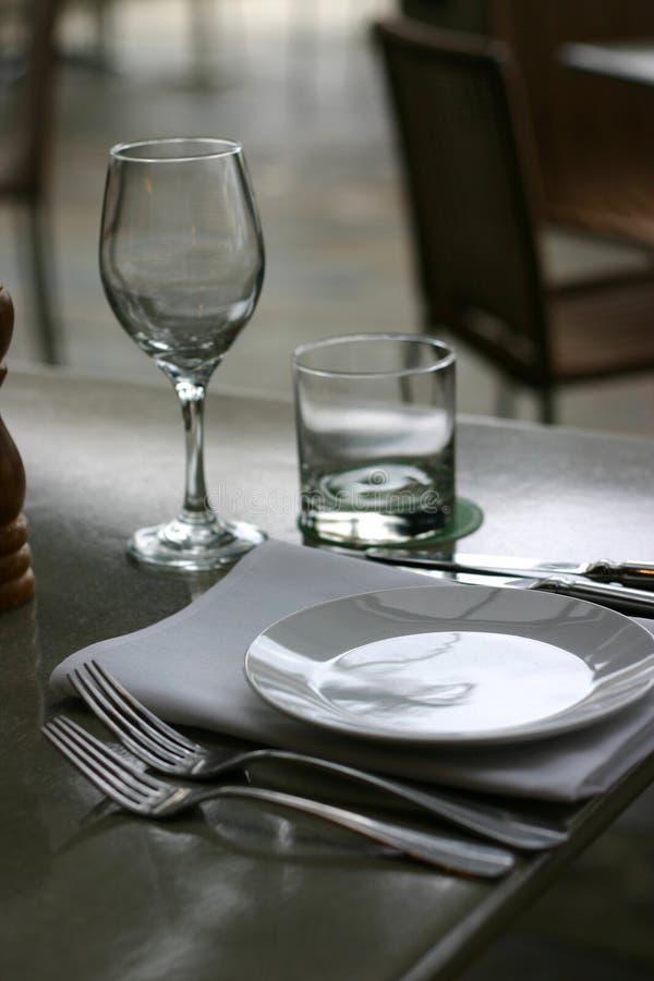 Plaats die bij Restaurant plaatst stock foto