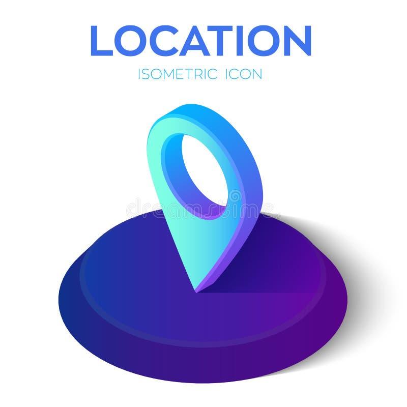 Plaats Isometrisch Pictogram 3D Isometrisch Teken Gecreeerd voor Mobiel, Web, Decor, Drukproducten, Toepassing Perfectioneer voor royalty-vrije illustratie