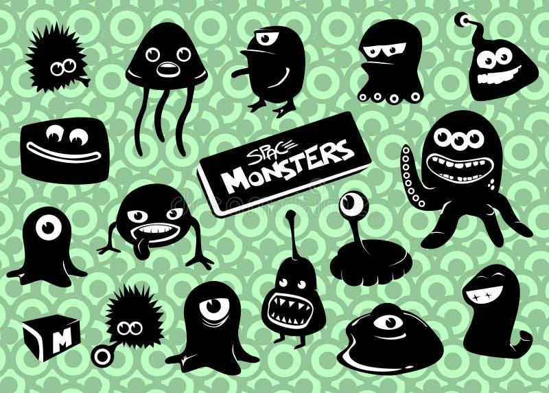 Plaats Monsters uit elkaar royalty-vrije stock afbeelding