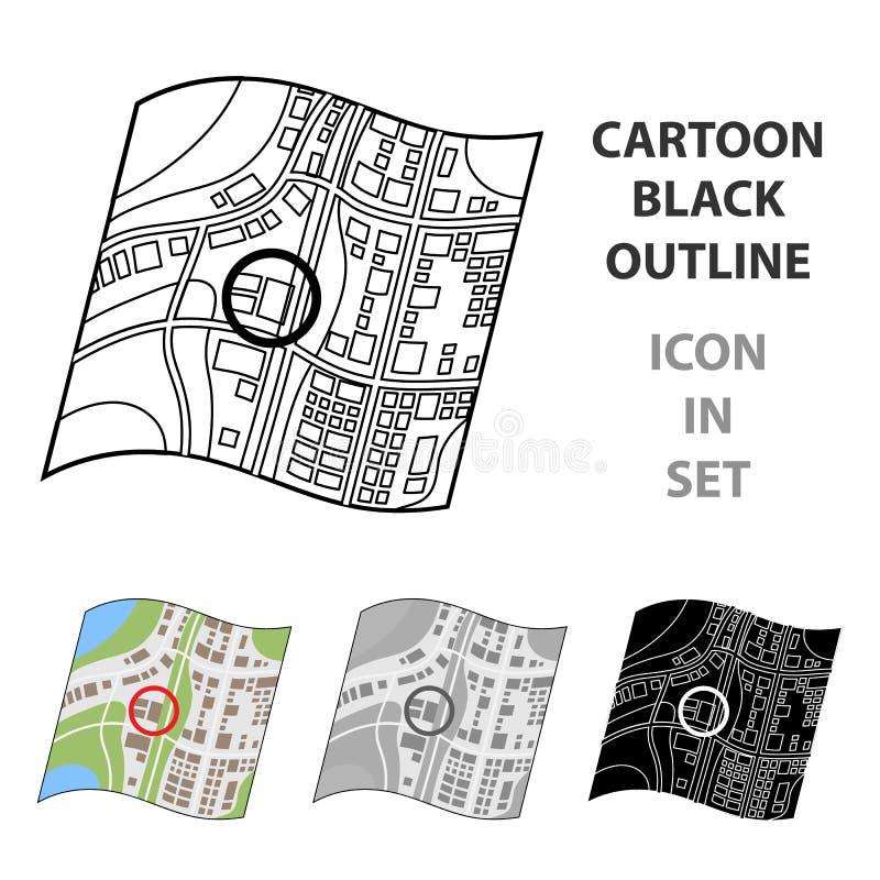 Plaats op de kaart Makelaar in onroerend goed enig pictogram in van de het symboolvoorraad van de beeldverhaalstijl vector de ill vector illustratie
