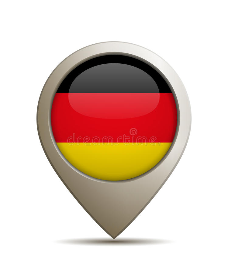 Plaats Pin With German Flag vector illustratie
