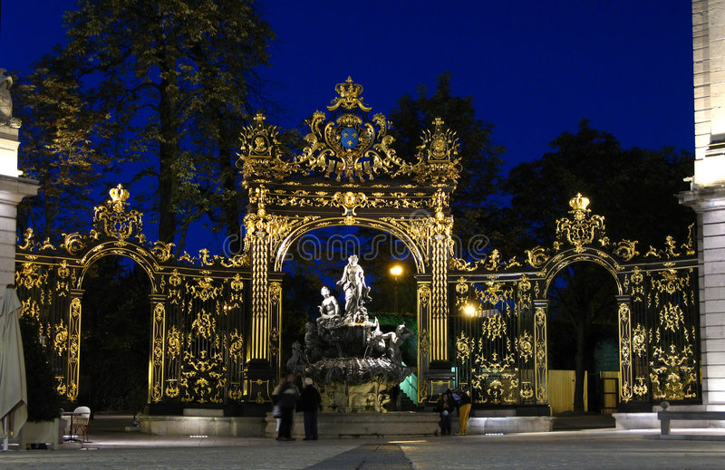 Plaats Stanislas 05, Nancy, Fr royalty-vrije stock afbeelding