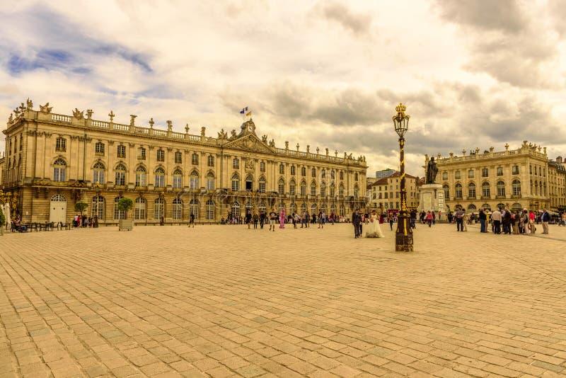 Plaats Stanislas, Historisch stadscentrum van Nancy in Lotharingen, Frankrijk stock foto