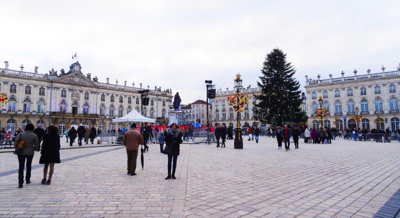 Plaats Stanislas, Kerstmis, Nancy royalty-vrije stock foto's