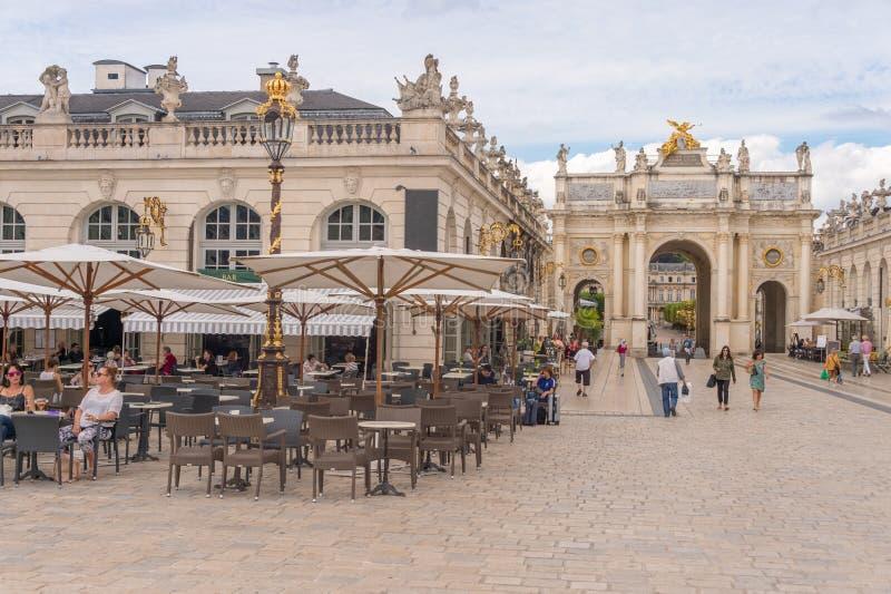 Plaats Stanislas, Nancy, Frankrijk stock afbeelding