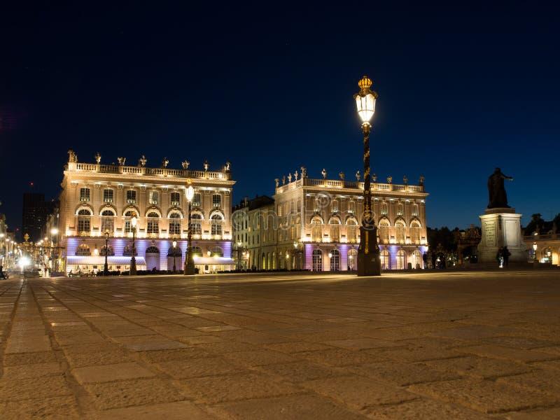 Plaats Stanislas In Nancy, Frankrijk bij Nacht stock afbeelding