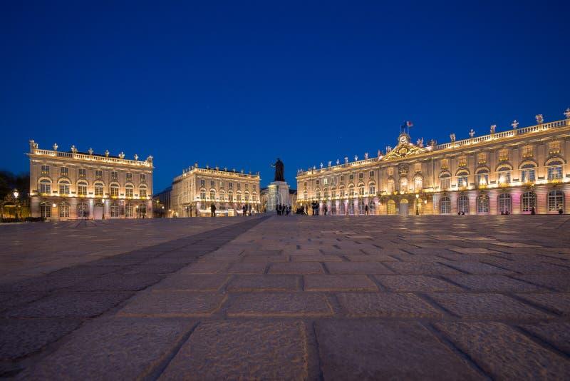 Plaats Stanislas In Nancy, Frankrijk bij Nacht royalty-vrije stock fotografie