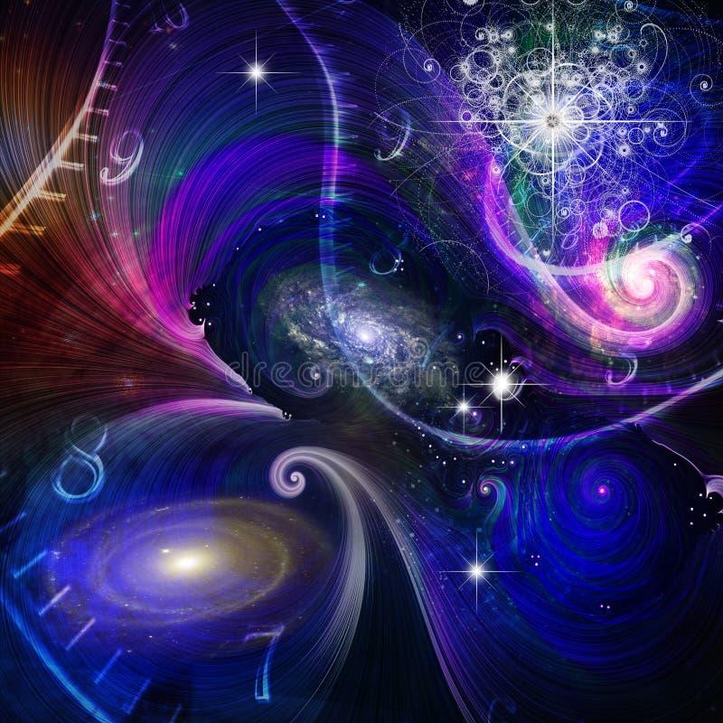 Plaats-tijd en Quantumfysica royalty-vrije illustratie
