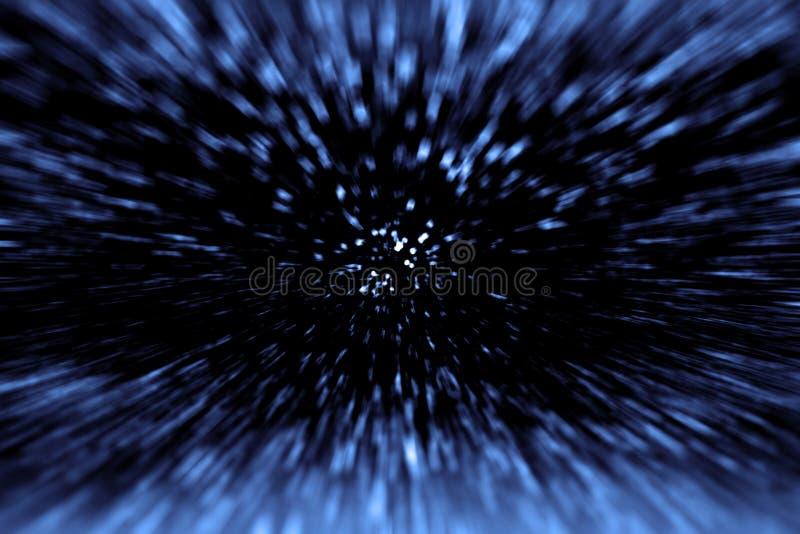 Plaats-tijdreis en Big Bang stock afbeeldingen