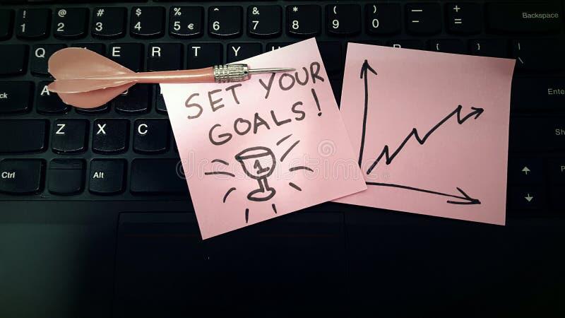 Plaats uw doelstellingen slimmer werk stock foto