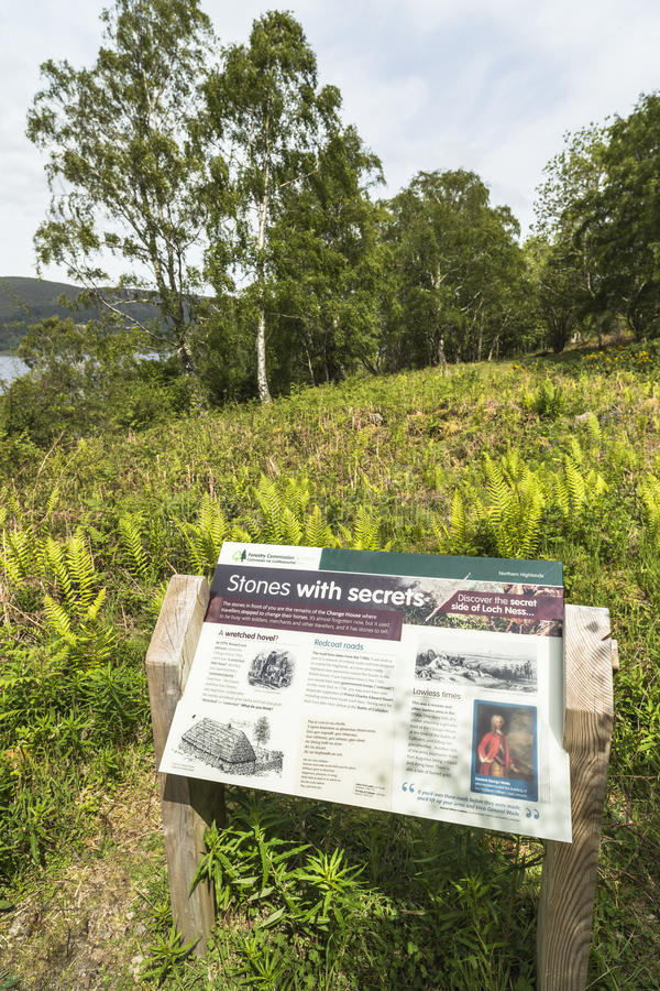 Plaats van het Veranderingshuis op Loch Ness royalty-vrije stock fotografie
