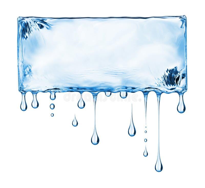 Plaats voor inschrijving van water op witte achtergrond wordt gemaakt die vector illustratie