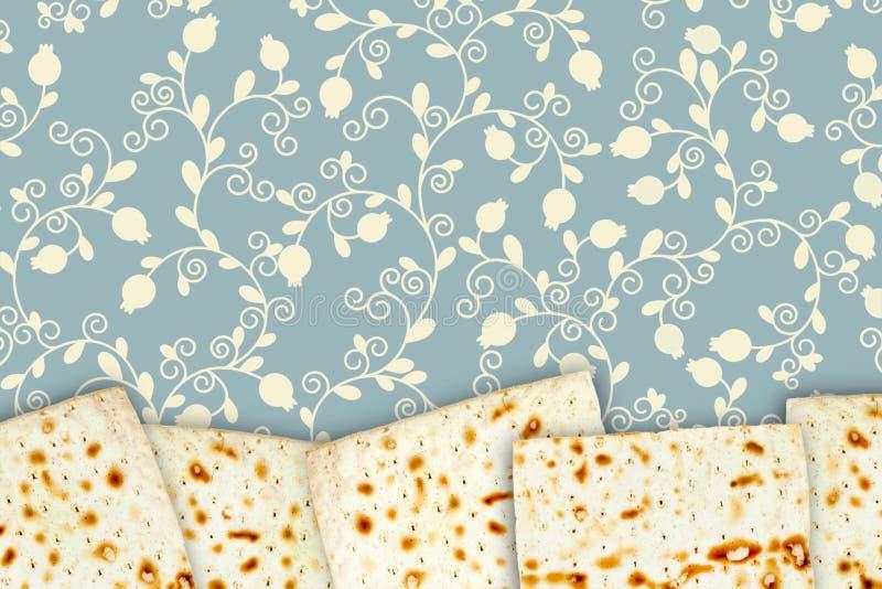Plaats voor tekst, copyspace De illustratie van matzah voor Joodse passover Een luchtfoto van Joodse matza, sommige matzahstukken stock foto's