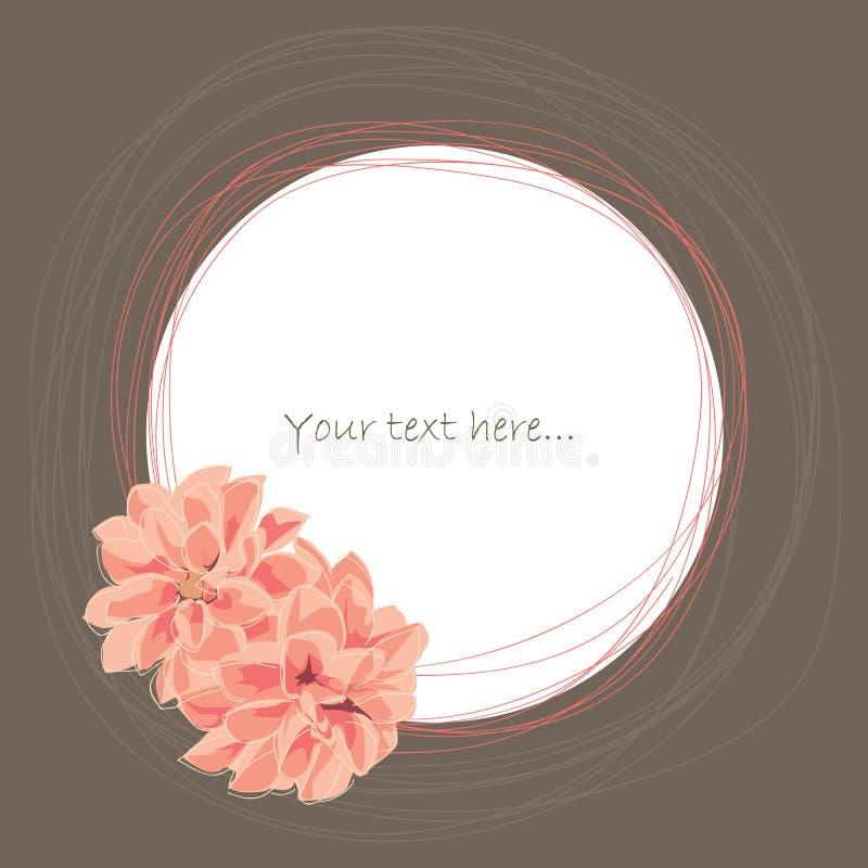 Plaats voor uw tekst met grafische bloem, vector illustratie