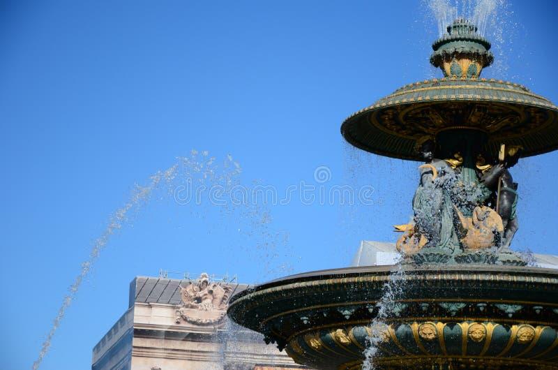 Plaatsde La Concorde Fountain Zoom royalty-vrije stock fotografie