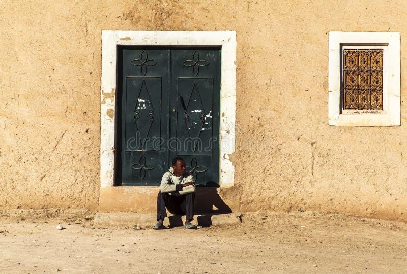 Plaatselijke bevolking in Marokko stock afbeelding