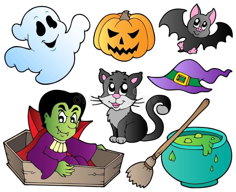 Plaatsen de leuke beeldverhalen van Halloween 1 vector illustratie