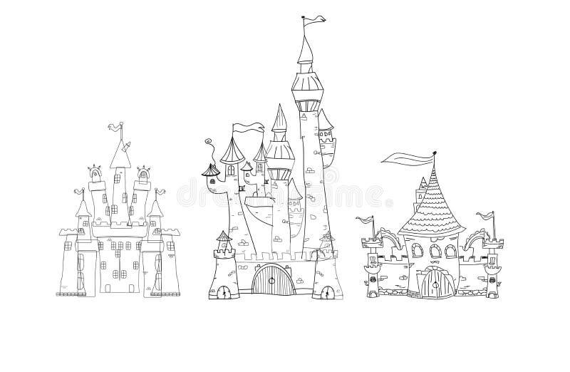 Plaatsen en Architectuur stock illustratie