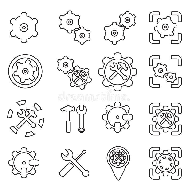 Plaatsende pictogramlijn vectorillustratie vector illustratie