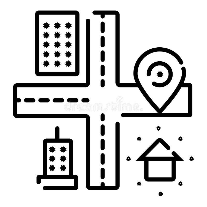 Plaatspictogram, de vector van het kaartpictogram stock illustratie