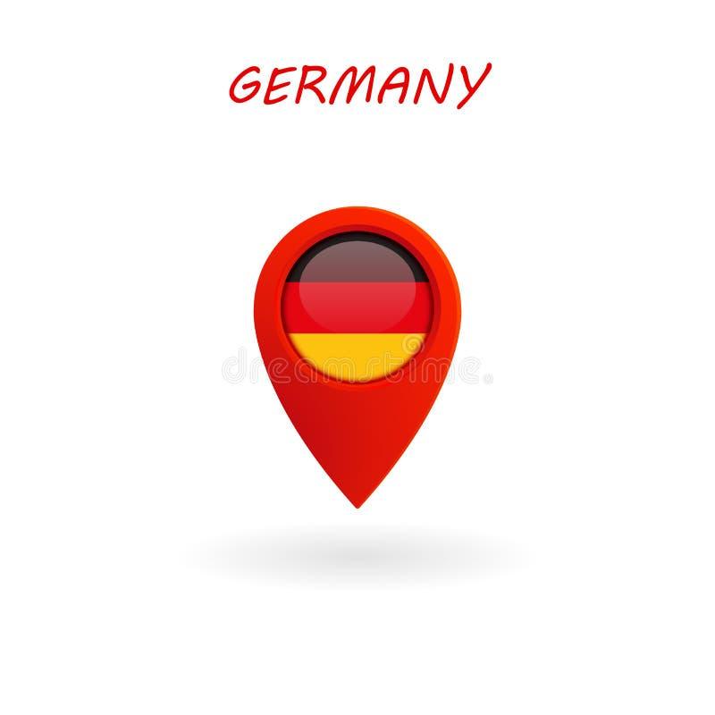 Plaatspictogram voor de Vlag van Duitsland, Vector stock illustratie
