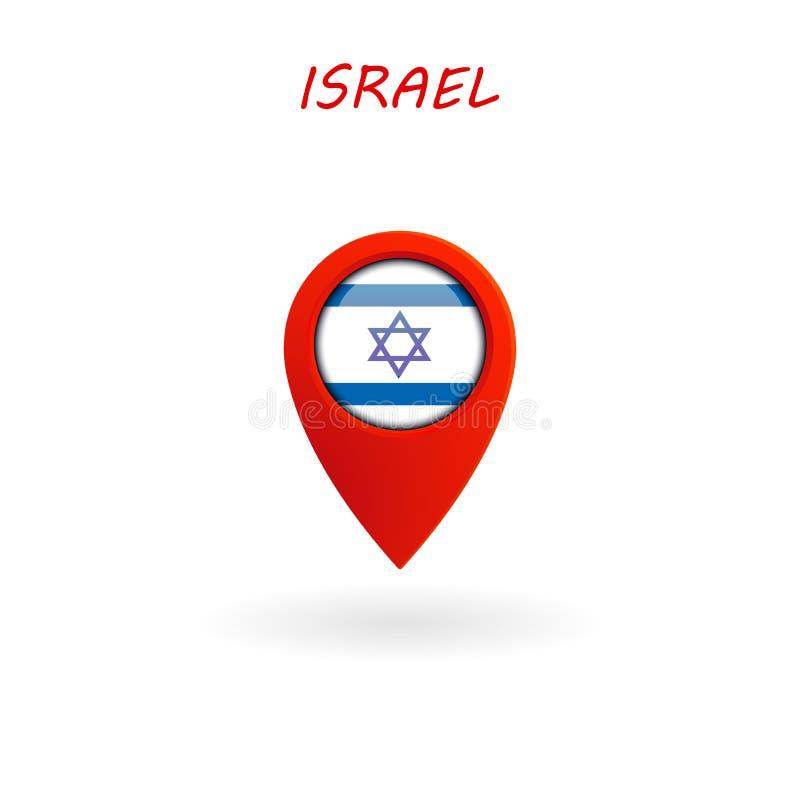 Plaatspictogram voor Israel Flag, Vector vector illustratie