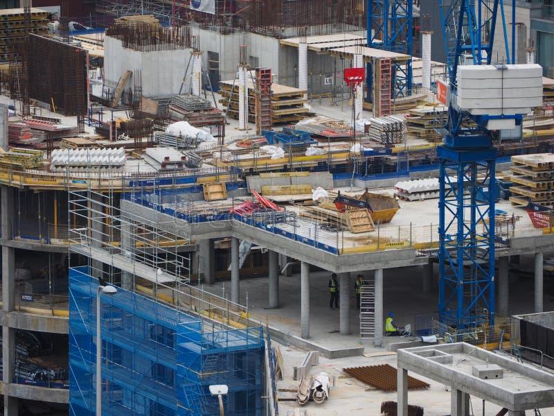 plac budowy w Edynburg zdjęcia stock