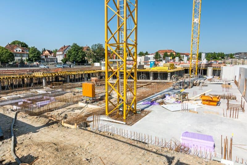 Plac budowy w lecie fotografia royalty free