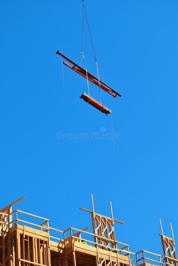 Plac budowy z niebieskim niebem zdjęcia stock