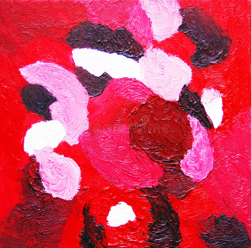 plac czerwony Abstrakcjonistyczny koloru obraz w czerwonych brzmieniach ilustracji