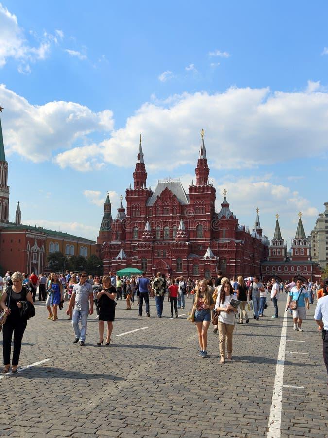Plac Czerwony i dziejowi budynki Moskwa Kremlin obrazy royalty free