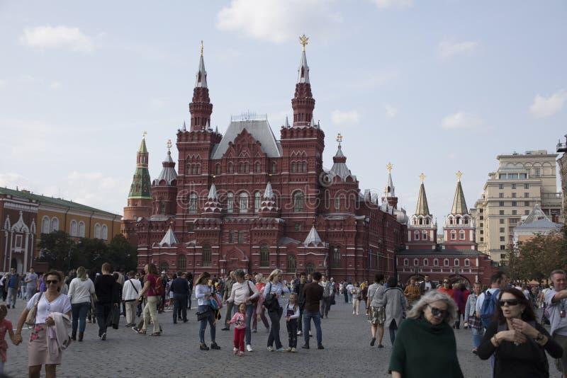 Plac Czerwony i muzeum narodowe w Moskwa Rosja zdjęcia stock