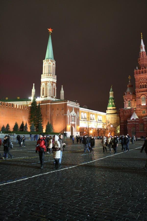 plac czerwony noc moscow fotografia royalty free