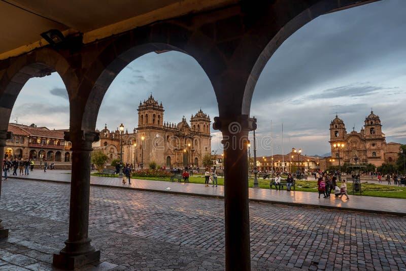 Plac De Armas, Cusco, Peru fotografia stock