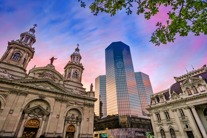 Plac De Armas, Santiago de Chile, Chile fotografia stock