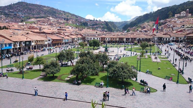 Plac De Armas w Cusco, Peru zdjęcia stock
