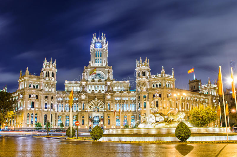 Plac De Cibeles, Madryt, Hiszpania obraz stock