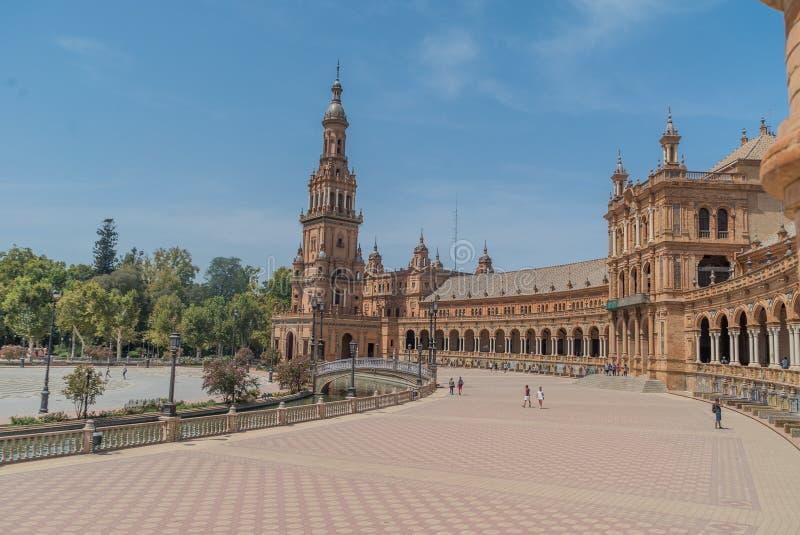 Plac De españa Sevilla w Hiszpania zdjęcia royalty free
