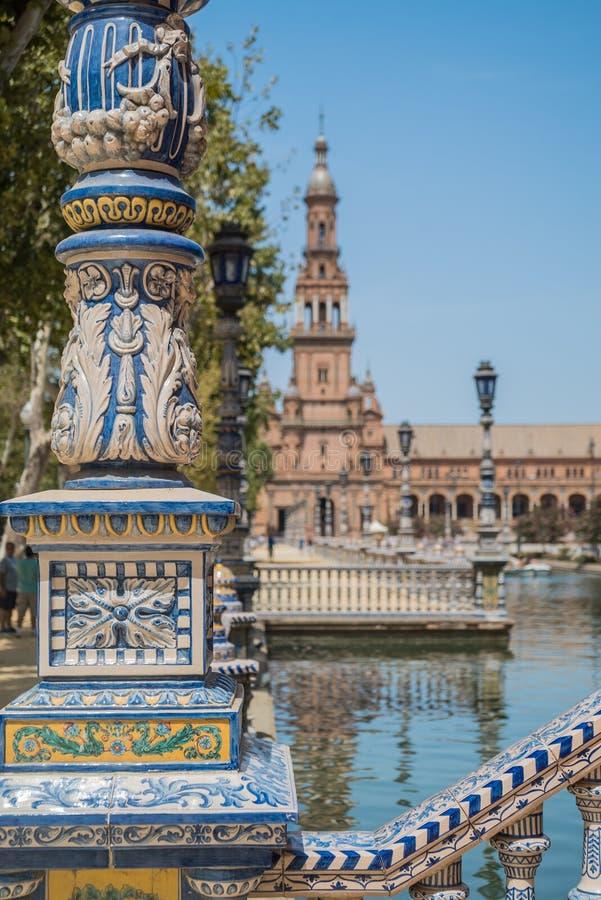 Plac De españa Sevilla w Hiszpania fotografia stock