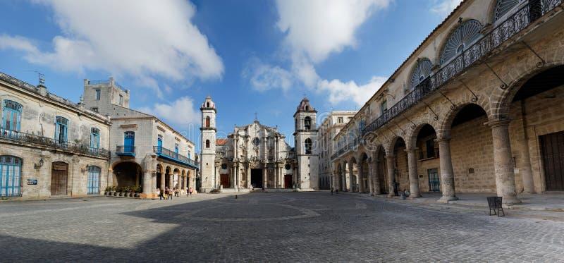 Plac De Los Angeles Catedral Hawański, Kuba zdjęcie royalty free