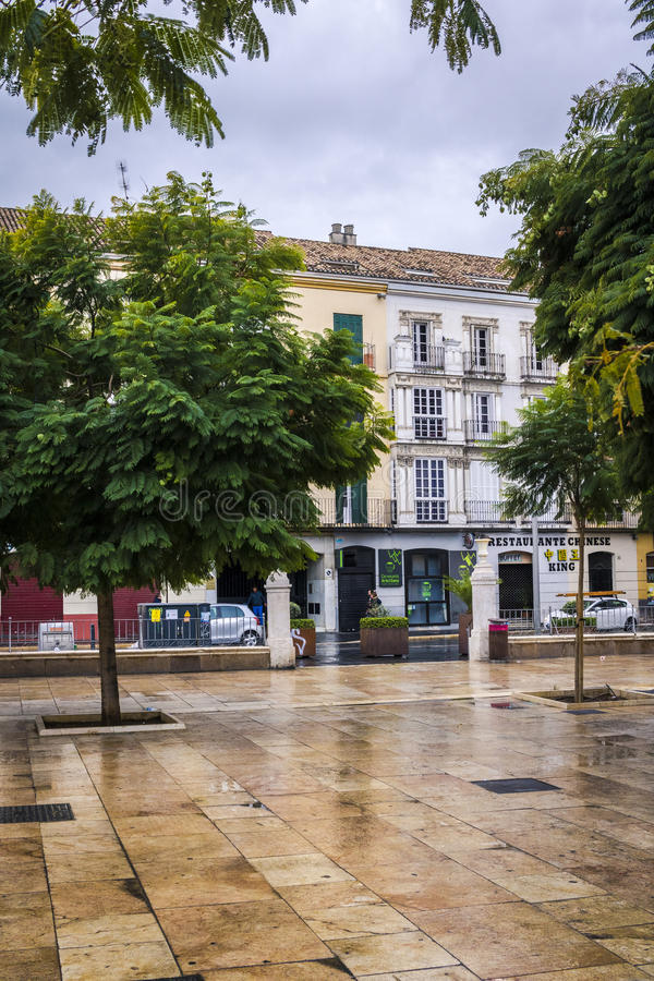Plac De Los angeles Merced, Malaga, Hiszpania zdjęcia royalty free