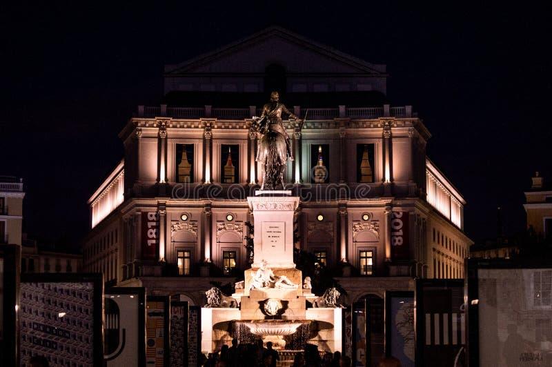 Plac De Oriente i opera obrazy royalty free