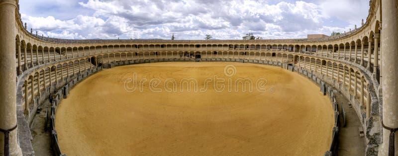 Plac De Toros De Ronda, stary bullfighting pierścionek w Hiszpania fotografia royalty free