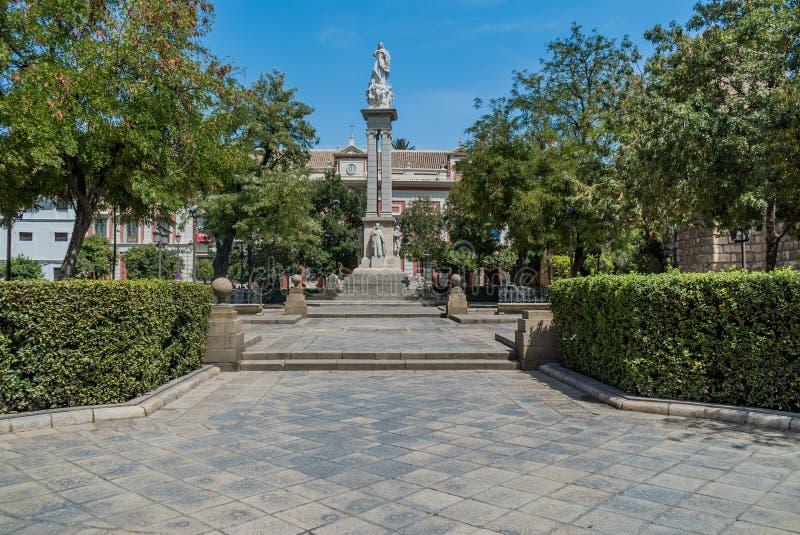 Plac Del Triunfo Sevilla Hiszpania obrazy royalty free